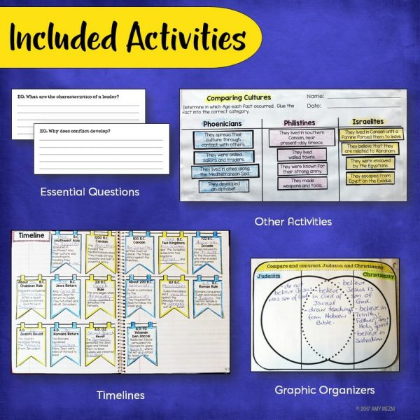 Teaching Ideas 4U - Amy Mezni - Israelites & Early Christianity Interactive Notebook Unit Ancient Israel INB