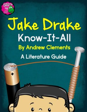 Teaching Ideas 4U - Amy Mezni - Jake Drake Know-It-All by Clements Novel Study Teaching Unit Literature Guide