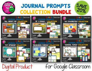 Teaching Ideas 4U - Amy Mezni - Journal Writing Prompts BUNDLE GOOGLE Drive Version 36 Topics