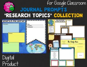 Teaching Ideas 4U - Amy Mezni - Journal Writing Prompts Research Topics GOOGLE Drive Version