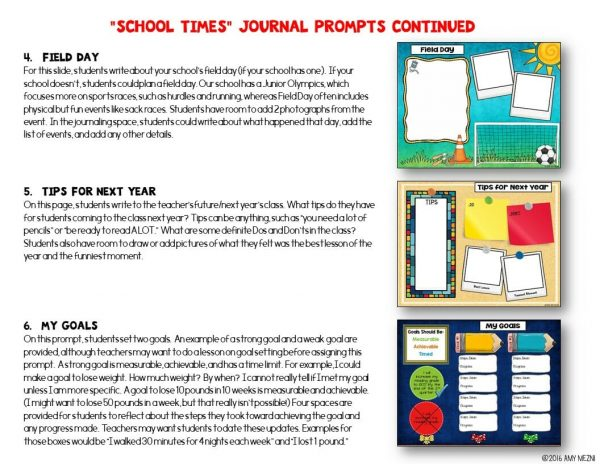Teaching-Ideas-4U-Amy-Mezni-Journal-Writing-Prompts-School-Times-Color-Ink-Saver-Versions