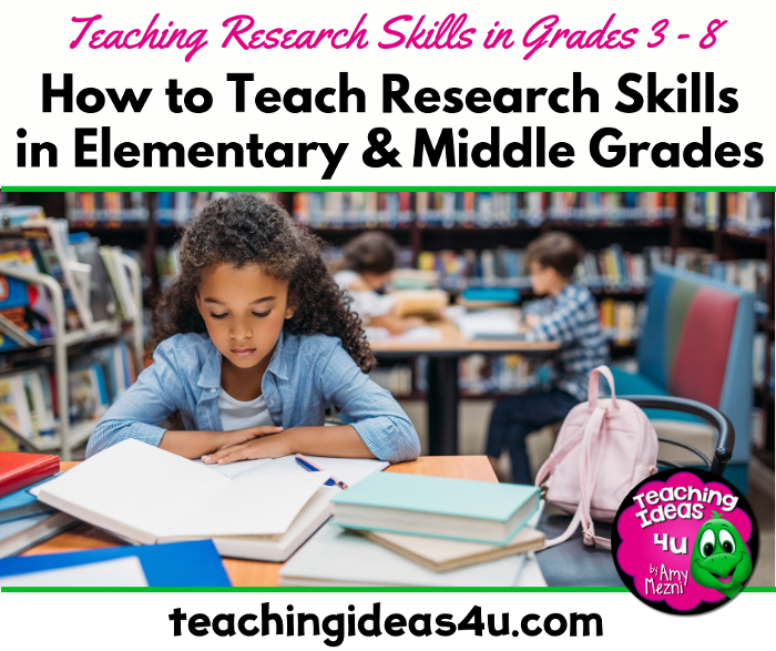 Teaching Ideas 4U Amy Mezni How to Teach Research Skills in Upper Elementary Middle Grades