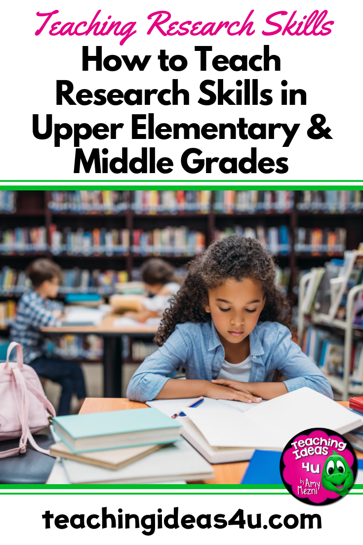 Teaching Ideas 4u Amy Mezni Teaching Research Skills in Upper Elementary Middle Grades pin