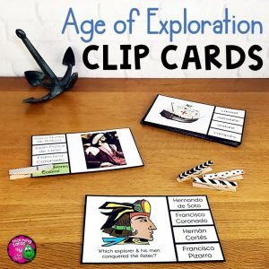 Teaching Ideas 4U - Amy Mezni - Age of Exploration & Explorers Pick 'n Flip Clip Cards Review Activity