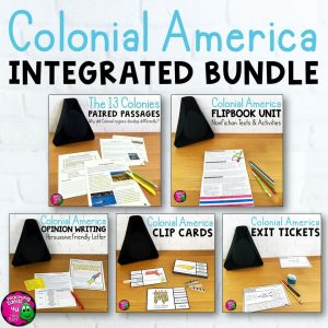 Teaching Ideas 4U - Amy Mezni - Colonial America & ELA Integrated Bundle: Reading, Writing & Social Studies