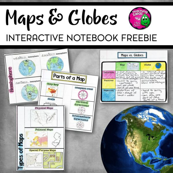 Teaching-Ideas-4U-Amy-Mezni-Maps-and-Globes-Interactive-Note