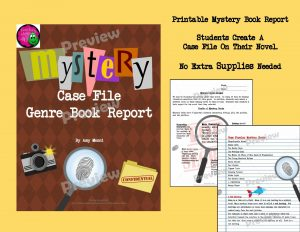 "Teaching Ideas 4U - Amy Mezni - Mystery Genre Book Report ""Case File"" Project, Rubric, & Introductory Activity"