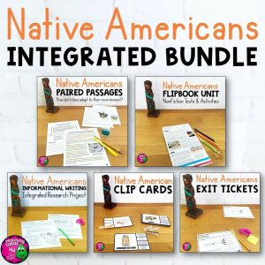 Teaching Ideas 4U - Amy Mezni - Native Americans & ELA Integrated Bundle: Reading, Writing & Social Studies