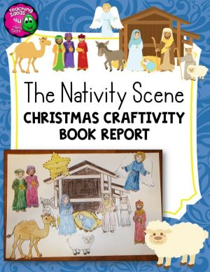 Teaching Ideas 4U - Amy Mezni - Nativity Scene Christmas Craftivity Book Report Bible Religious Education