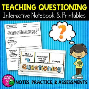 Teaching Ideas 4U - Amy Mezni - Questioning Reading Strategy Unit: Notes, Practice, & Assessment