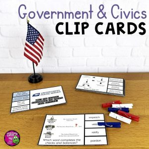 TeachingIdeas4uUSGovernmentCivicsPicknFlipClipCardsReviewActivity