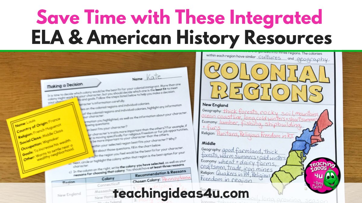 Save Time With These Integrated ELA & American History Resources