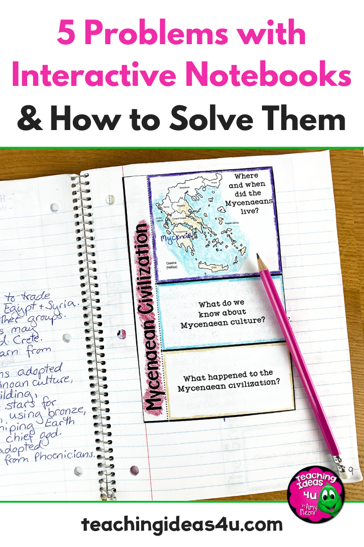 Most teachers have a love/hate relationship with interactive notebooks. In this blog, we discuss 5 problems with interactive notebooks and how you can solve them!