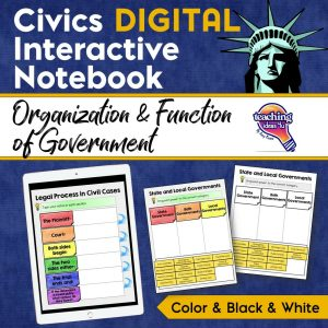 Teaching Ideas 4U Civics DIGITAL INB