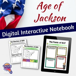 TeachingIdeas4U Age of Jackson Digital Interactive Notebook