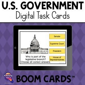 TeachingIdeas4U U.S. Government & Civics Digital Task Cards